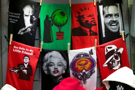 Figure 2. T-shirts, Monastiraki Flea market, Athens, Greece Source: Durante/The Visual Archive Project of the Global Imaginary, 2013