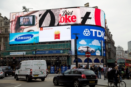Figure 5. The illuminated signs, Piccadilly Circus, London, UK Source: Durante/The Visual Archive Project of the Global Imaginary, 2013